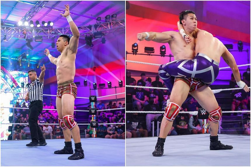 Sean Tan beat Trey Baxter in less than a minute with an inside cradle move on WWE NXT.