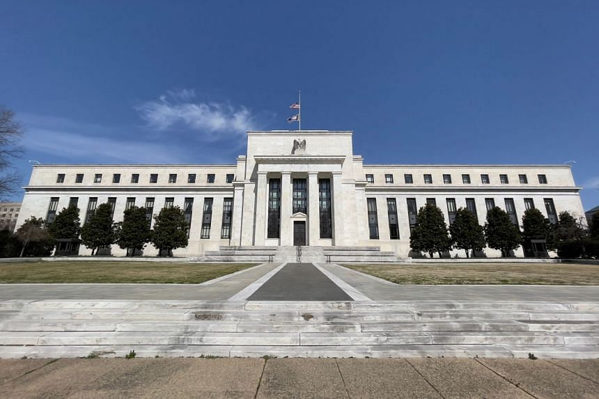 The US Federal Reserve building is pictured in Washington, DC.