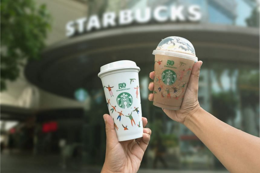 Get ready for Starbucks Singapore's first-ever Reusable Cup Day on September 28, where you can get a limited edition 50th anniversary reusable cup for every beverage purchased. PHOTO: STARBUCKS SINGAPORE