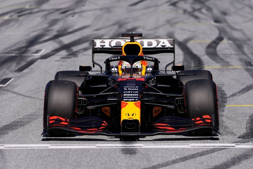 Red Bull's Dutch driver Max Verstappen in action during the Styrian Grand Prix in Austria in June 2021.