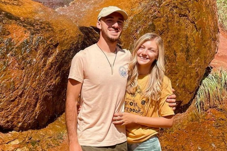 """Gabby Petito (right) and Brian Laundrie left New York in early July heading west on what they called a """"van life"""" trip."""