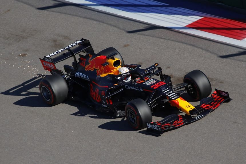 Max Verstappen was already carrying a three-place grid penalty after a collision with Mercedes rival Lewis Hamilton in the Italian Grand Prix on Sept 12, 2021.