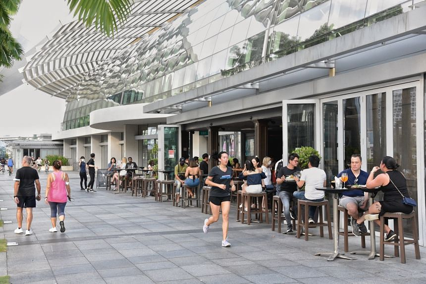 New restrictions were announced on Sept 24, allowing dining-in at eateries only in fully vaccinated groups of two from Sept 27 to Oct 24.