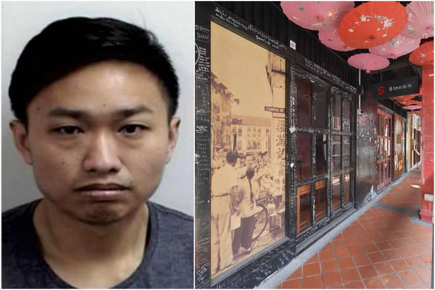 Goh Soon Kim's alleged accomplice, Ng Chek Kiang Angelo (pictured), has been arrested after being on the run. The robbery is said to have taken place at S Inn Chinatown in Temple Street.
