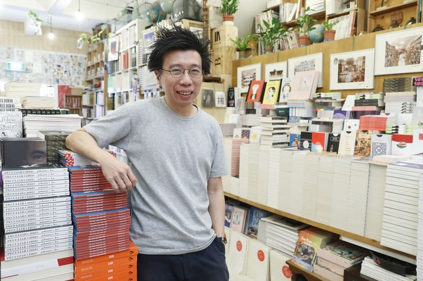 File photo of Mr Kenny Leck, founder of BooksActually. Mr Leck told The Straits Times the allegations are untrue.