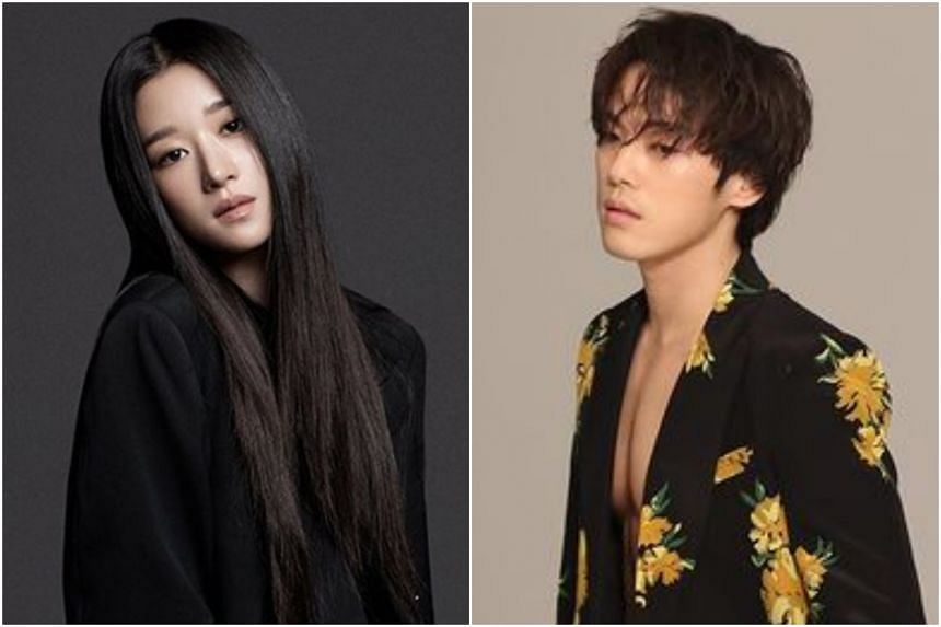 The scandal was over text messages between him and Seo Yea-ji (left), the star of It's Okay To Not Be Okay.