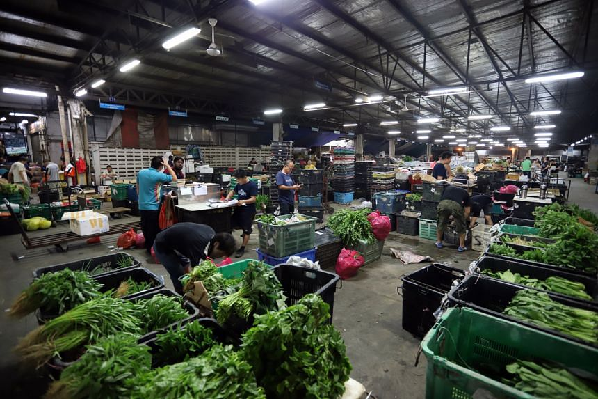 Pasir Panjang Wholesale Centre handles about 30 per cent of Singapore's fruit imports and 50 per cent of vegetable imports.