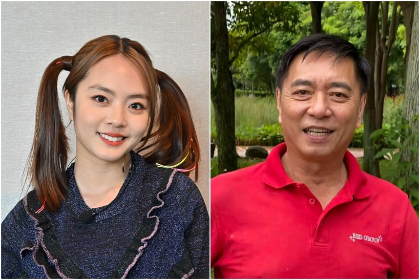 Actress Chantalle Ng (left) did not maintain contact with her estranged father Huang Yiliang (right) as she remained fearful of him.