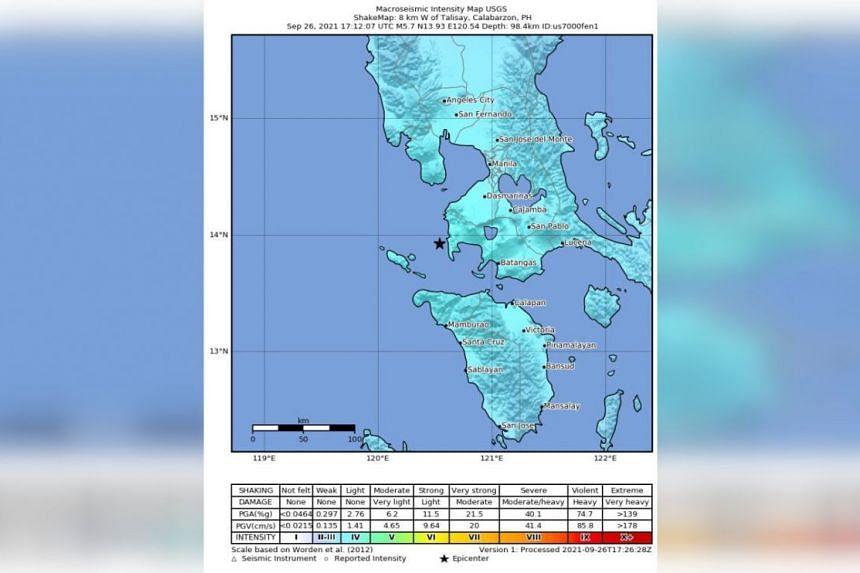 The quake was recorded at a depth of 98 kilometres.
