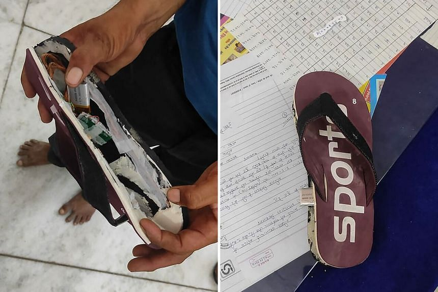Devices hidden in the footwear could receive calls which would be transmitted wirelessly to tiny receivers hidden in the cheats' ears.
