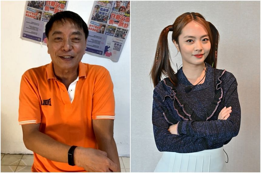 Chantelle Ng (right) said that when she was 11, Huang Yiliang got so angry with her for not performing well in mathematics that he beat her.