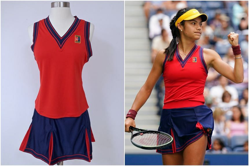 Emma Raducanu's outfit will be displayed at the Tennis Hall of Fame at Rhode Island.
