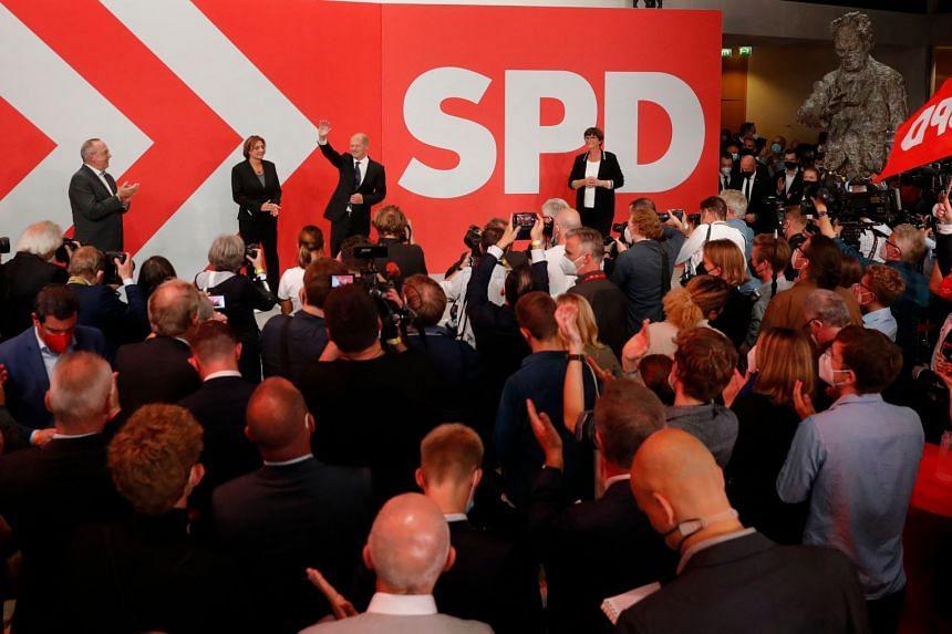 Germany's Social Democrats narrowly won the national election on Sept 26, 2021.