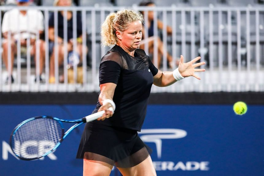 Kim Clijsters is competing for the first time since a first-round loss at the 2020 US Open.