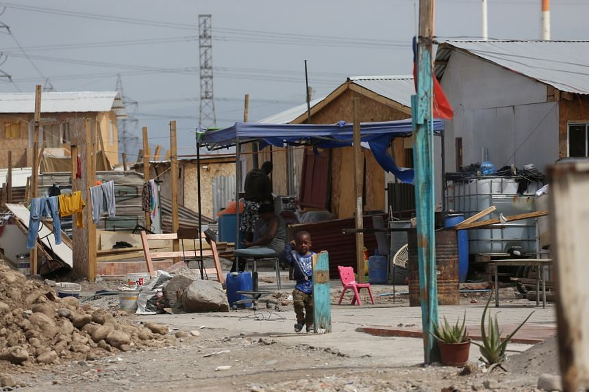 A Chilean camp where Haitian migrants live in Santiago on Sept 14, 2021.
