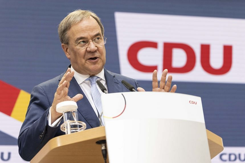 Mr Armin Laschet's CDU-CSU conservative alliance brought home its worst election result in post-war Germany of 24.1 per cent.