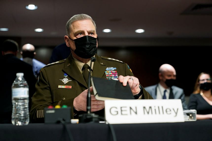 """General Mark Milley said he had been aiming to ease tension with Beijing and not to """"usurp authority""""."""