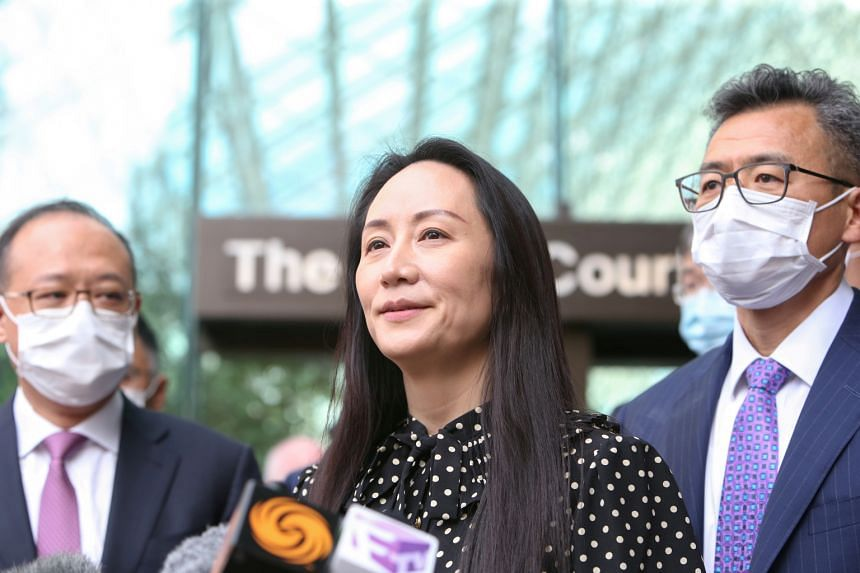 The White House said the release of Ms Meng Wanzhou (centre)  was a legal matter and does not represent a softening of US concerns about Chinese behaviour.