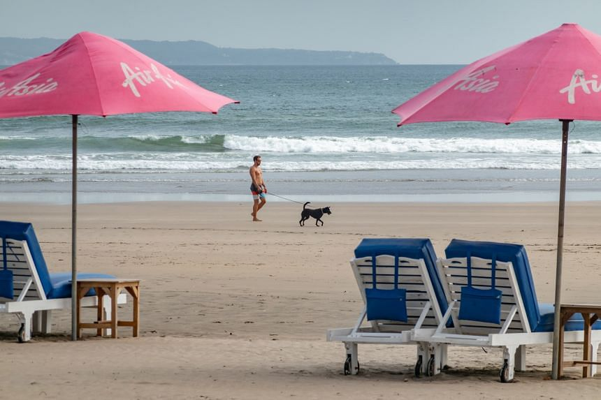 A beach in Bali on Sept 23, 2021. Bali was among the first to go into lockdown in July.
