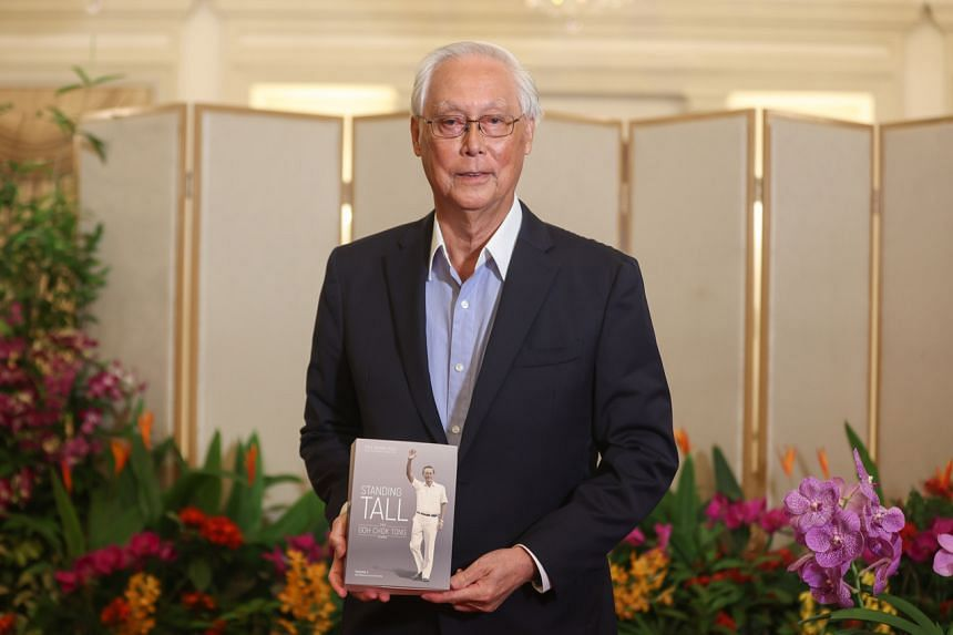 Emeritus Senior Minister Goh Chok Tong at the virtual book launch fund-raiser of Standing Tall: The Goh Chok Tong Years on Oct 1, 2021.