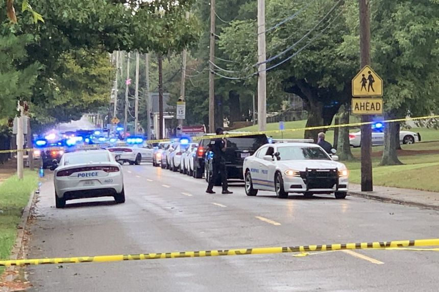 """Cummings Elementary School in south Memphis remained on lockdown as police searched for a """"juvenile male suspect""""."""