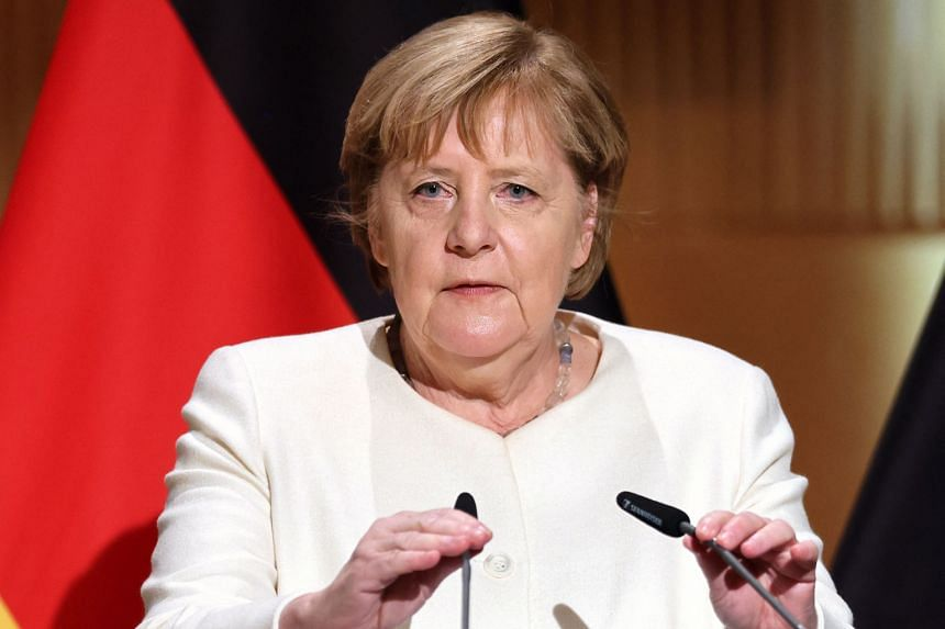 Dr Merkel will leave office after 16 years in power once a new coalition can be formed.