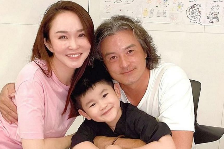 Fann Wong scaled back her acting following the birth of the couple's seven-year-old son Zed in 2014.
