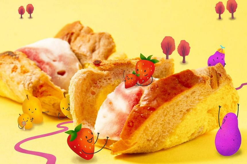 The Fundae Roti set includes a rainbow bread loaf and four small cups of ice cream made with natural ingredients.