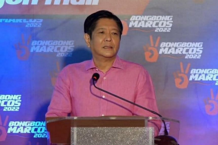 The latest poll showed Mr Ferdinand Marcos Jr as the second most popular candidate for president.