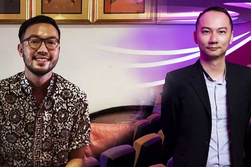 Mr Wang En Yeow (left), group sustainability manager at Singtel, and Dr Adam Chee, chief of NUS-ISS' Smart Health Leadership Centre, are passionate about catalysing change from within their organisations for the benefit of society. PHOTO: WANG EN Y