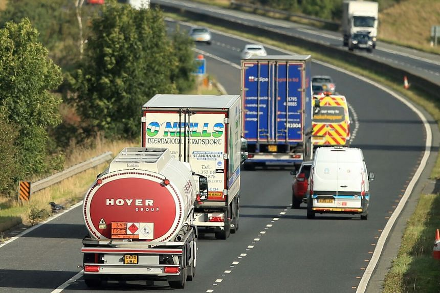 The haulage industry had been asked to provide the details of drivers who were willing to come to Britain.