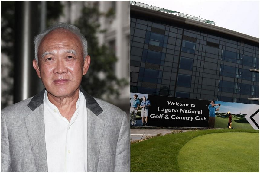The move comes after Laguna National's owner Peter Kwee (left) was unable to settle payments owed to hundreds of the golf club's debenture holders in July.