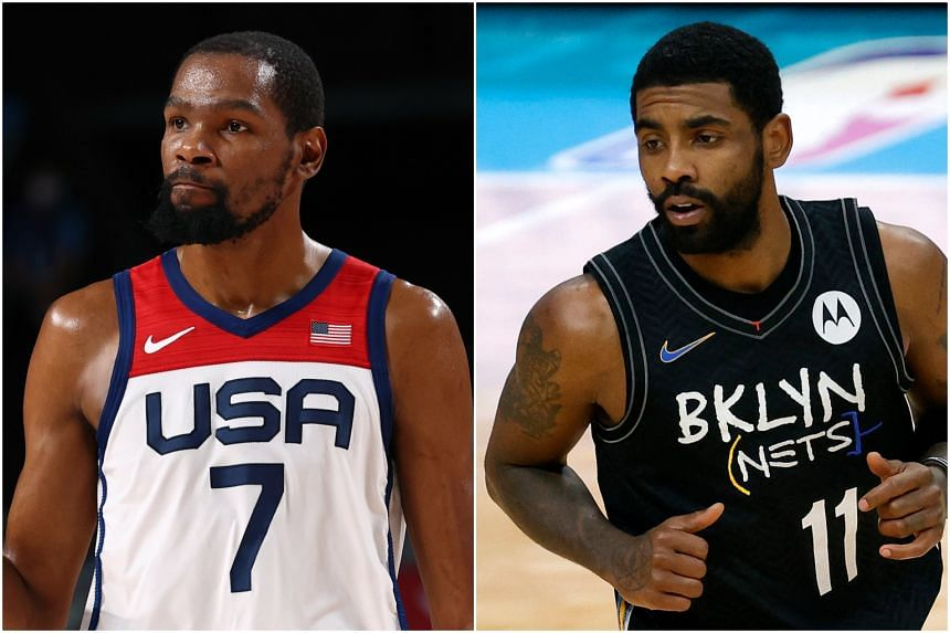 Kevin Durant (left) and Kyrie Irving.