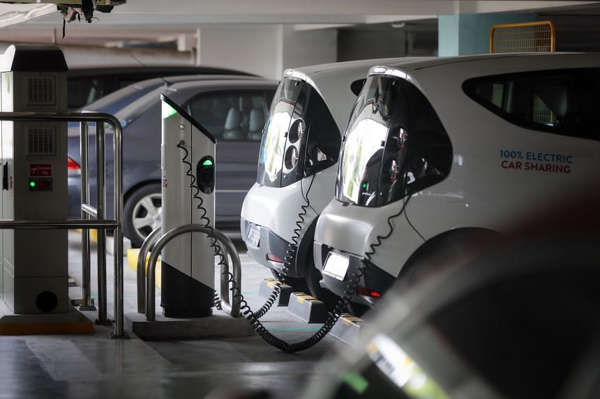 The battery of an electric vehicle is specified based on its energy storage capability.