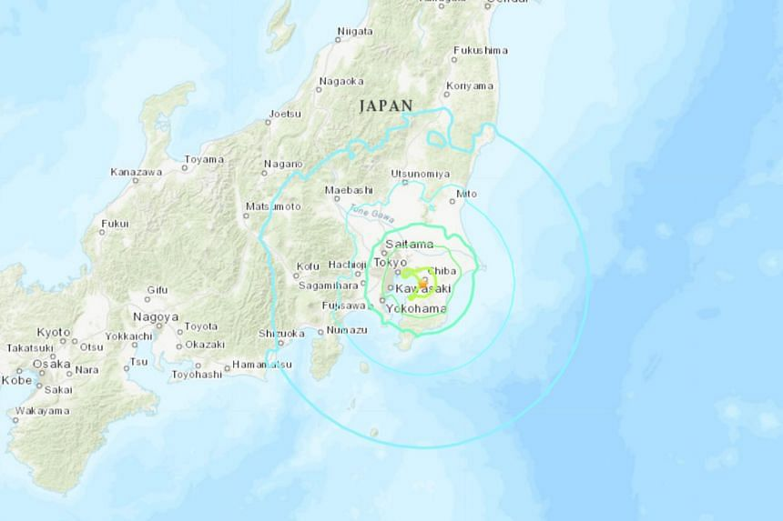 A 6.1-magnitude earthquake has hit Tokyo.