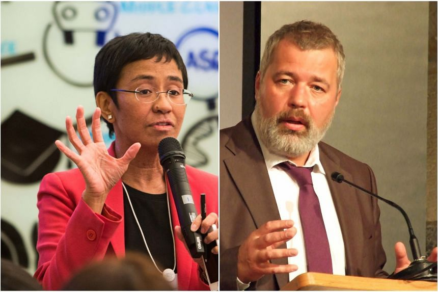 Journalists Maria Ressa from the Philippines and Russia's Dmitry Muratov have won the Nobel Peace Prize.