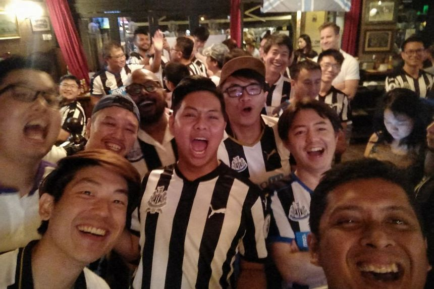 The Newcastle United Supporters Club Singapore has about 1,300 members.