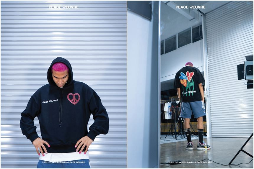 Singapore rapper Yung Raja has launched a fashion label, Peace Oeuvre, comprising T-shirts, hoodies, bags and accessories.