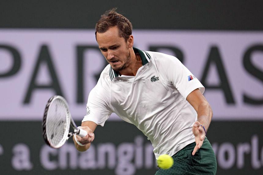 Daniil Medvedev at the Indian Wells Tennis Garden in Indian Wells, California, USA, on Oct 9, 2021.