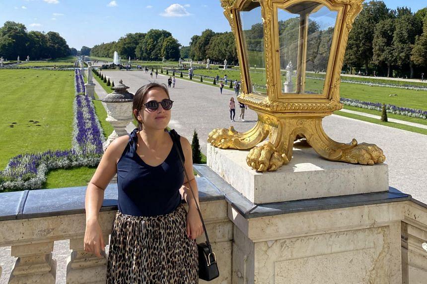 Ms Francesca Stumpacher at Munich's Nymphenburg Palace.