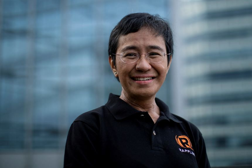 Journalist Maria Ressa, the first Filipino to win the Nobel Peace Prize.