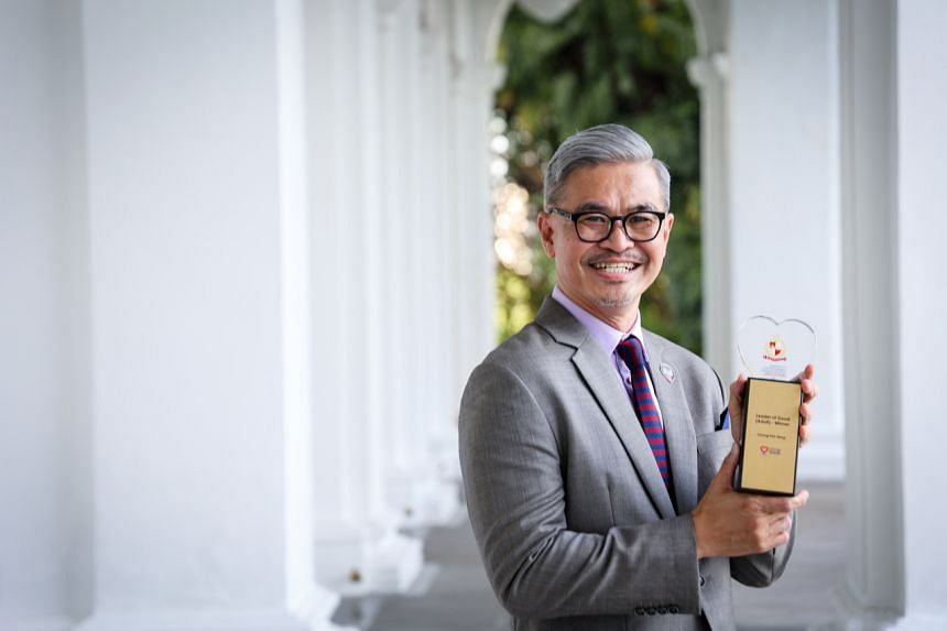 Dr Chong Poh Heng received the Leaders of Good award at the President's Volunteerism and Philanthropy Awards this year.