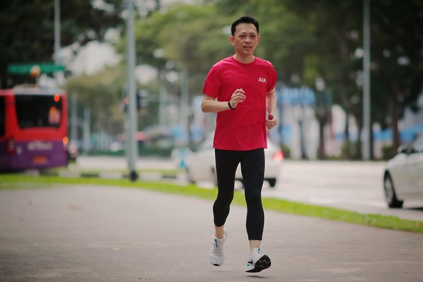 Mr Koo Chung Chang started running 5km four times a week and doing exercises after results showed that he had high cholesterol.