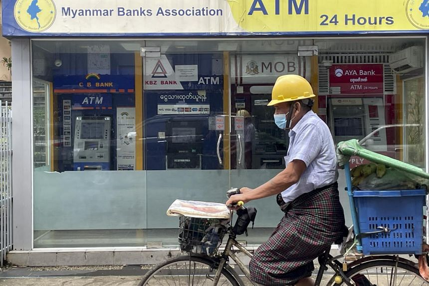 The kyat has tumbled about 50 per cent since the military seized power in February.
