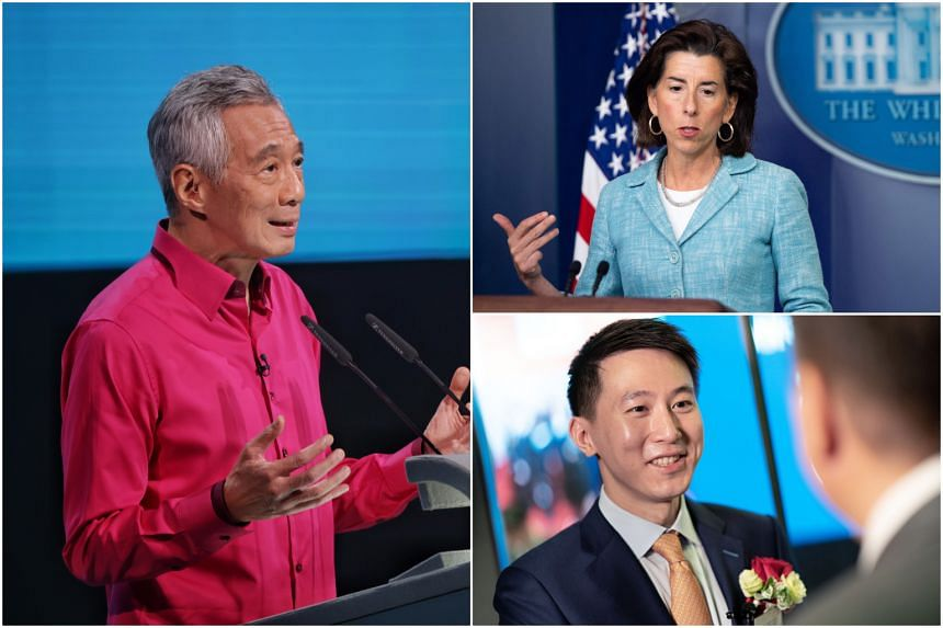 Prime Minister Lee Hsien Loong, US Commerce Secretary Gina Raimondo and TikTok chief executive officer Chew Shou Zi are some of the high-profile guests who will attend the event.