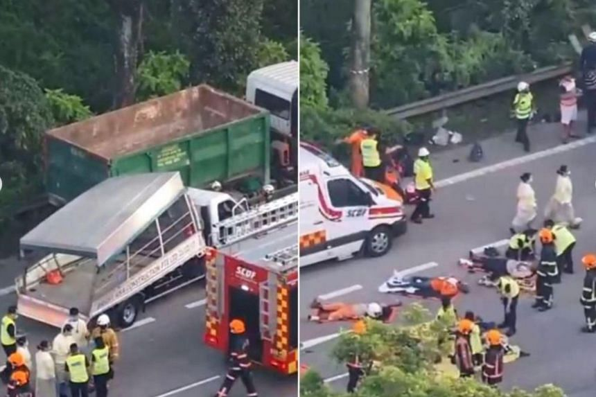 All 17 workers sitting in the back of the lorry at the time of the accident on April 20, 2021, were taken to hospital and two later died from multiple injuries.