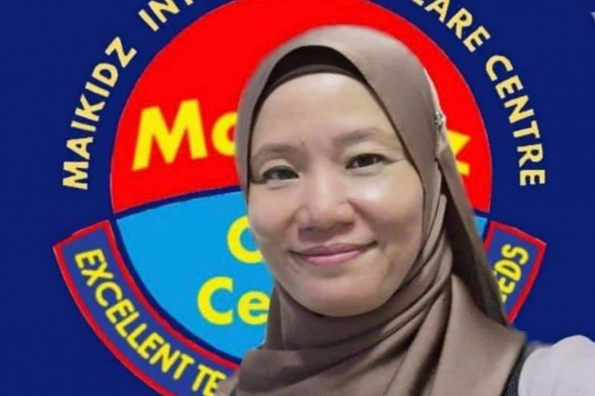 Sharifah Mazlan pleaded not guilty to abusing the six-year-old at Maikidz Care Centre in Selangor.