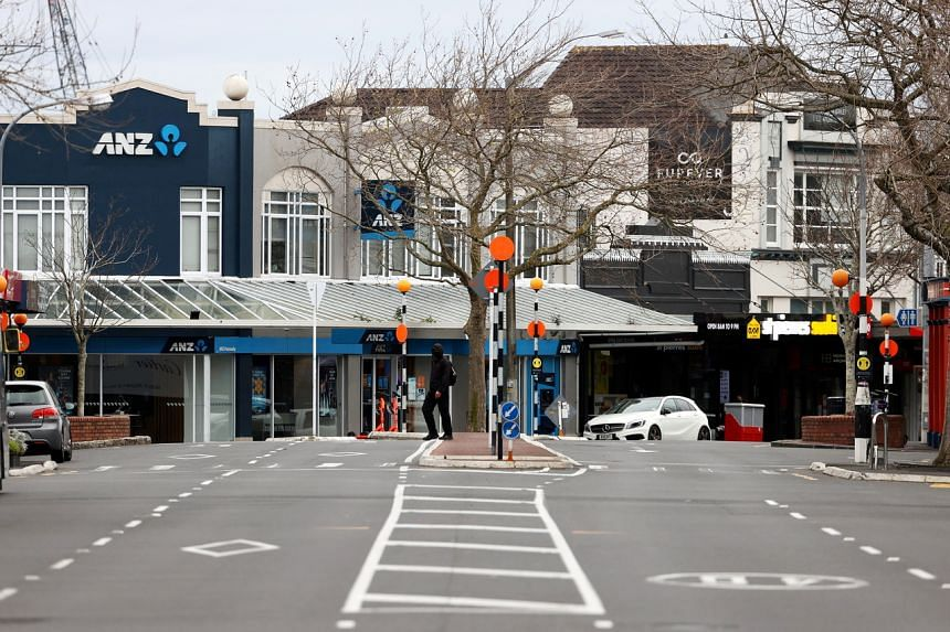 An empty street in Auckland on Aug 26, 2021.  New Zealand has recorded only 4,472 confirmed Covid-19 cases during the pandemic.