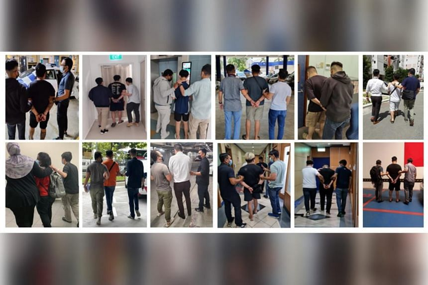 The police arrested 16 men and three women allegedly involved in Ponzi-like job scams with fake companies.