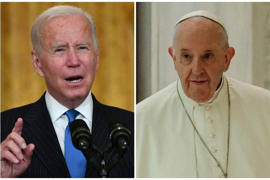 President Joe Biden (left) will meet with Pope Francis before attending a two-day summit of G20 leaders in Rome.